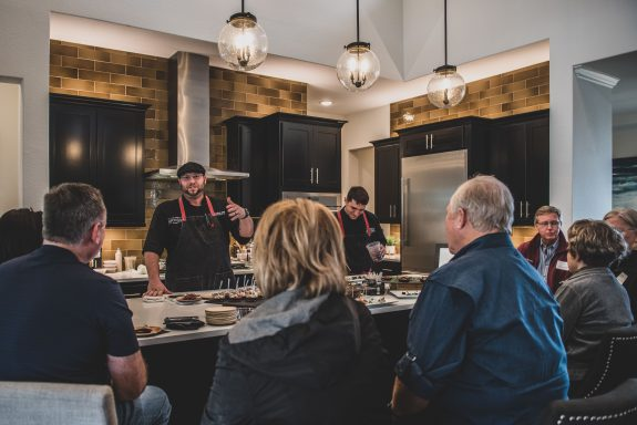 Guests enjoy hearing from The Austin Artisan private chef, Michael.