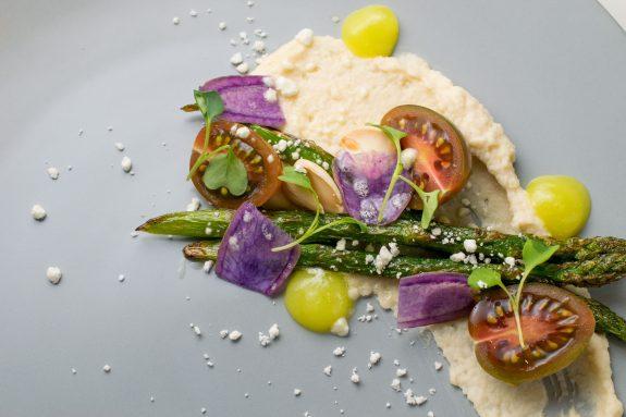The Austin Artisan uses seasonal foods like this delicious organic asparagus.