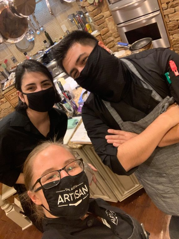 The friendly chefs from The Austin Artisan team.