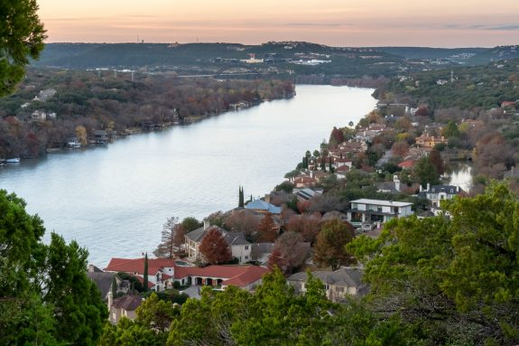 View from Mount Bonnell in Austin, TX.