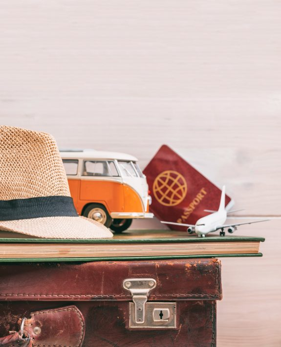 Many new graduates want to travel, so luggage and journals like these are a great graduation gift.