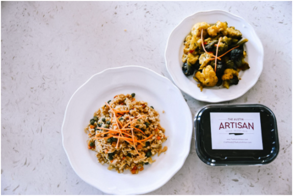 Chef-prepared meals from The Austin Artisan.