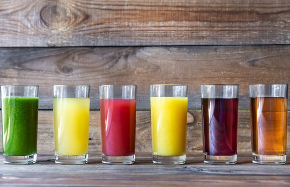 Fruit juices like these are often best left off diabetic diets.