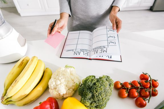 Meal planning helps with portion control.