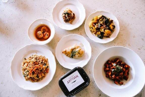 A variety of delicious chef-prepared meals from The Austin Artisan.
