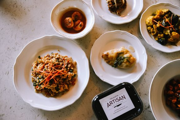 Pre-made meals from the Austin Artisan.